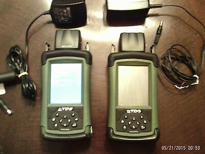 Two Trimble Tds Recon 400 With Chargers Gps Cards, Batteries Good Touch Screens