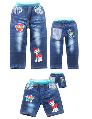 Kids Paw Patrol Jeans Bottom Pants Costume Clothes Trousers  AU