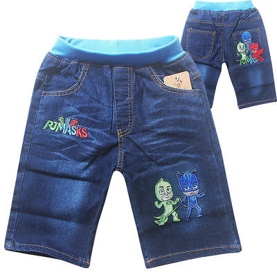 Kids PJ Masks Jeans Shorts Bottom Pants Costume Clothes Trousers Gift AU