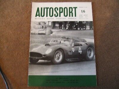 Autosport 12 February 1960 Jim Clark Profile Clee Hill Trial Argentine 1000kms