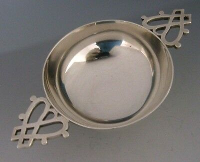 Quality Modernist Inverness Scottish Sterling Silver Quaich 1999-2000