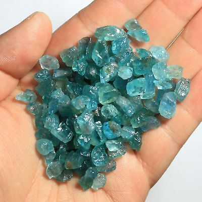 RARE 50 CARATI  NATURAL RAW light blue APATITE CRYSTAL GEM STONE
