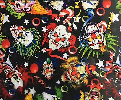 Hydrographic Water Transfer Hydrodipping Film Hydro Dip Creepy Clowns 1M