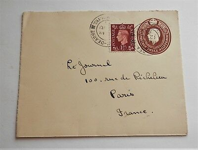 1939 Old British Cover , England To France