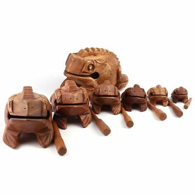 85*50*50mm Figurines Craft Thailand Decoration Feng Shui Lucky Frogs Wooden