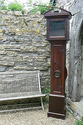 Antique Longcase Grandfather Clock - case only for 11 inch dial /  lantern clock