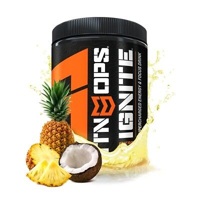 MTN OPS Ignite Supercharged Energy and Focus Drink-Piña Colada-45 Servings