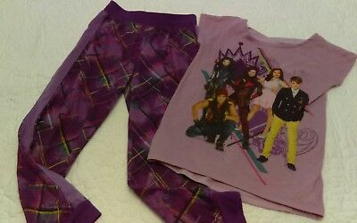 Disney Store Descendants 2 Piece Pajamas Set for Girl Size 5 6