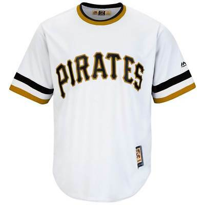 Majestic Pittsburgh Pirates Cooperstown Cool Base MLB Trikot Home Weiß