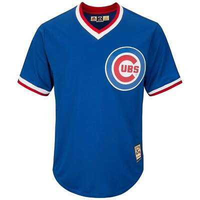 Majestic Chicago Cubs Cooperstown Cool Base MLB Trikot Alternate Blau