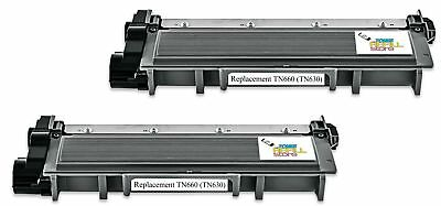 2PK Brother TN660 Black Compatible Toner for DCP-L2520 HL-L2300 MFC-L2700