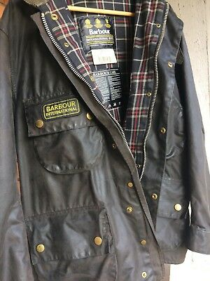 Barbour A7 International Suit Waxed Motorcycle Jacket Size C46/117 Cm