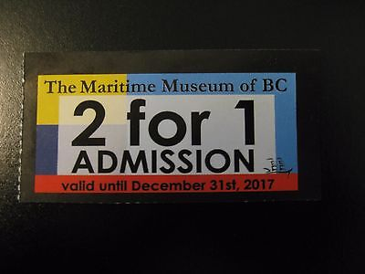 Maritime Museum of BC 2 FOR 1 ADMISSION Coupon - VICTORIA BC CANADA