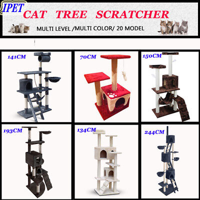NEW Cat Tree Scratching Post Scratcher Pole Gym Toy House Furniture 21 Models AU