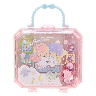 Little Twin Stars Sanrio Stamp set with jewelry box case Kawaii Japan New F/S