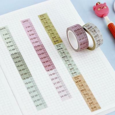 Planner Themes Washi Masking Scrapbooking Paper Tape Numbers Days Weeks N7