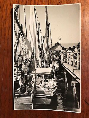 Harbour Scene  , Karachi Area, British India 1940s RP Postcard Ref046