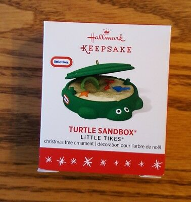 2016 Hallmark Miniature Turtle Sandbox Ornament - NIB