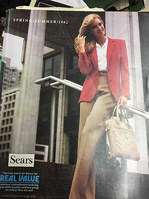 SEARS 1982 Spring And Summer Large Original Vintage Catalog With Free Shipping