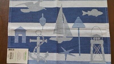 "100% Cotton Sjonara Small Table Square 14"" x 19"" by Ekelund"