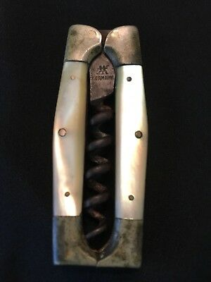 G&S Vintage German Corkscrew with Mother of Pearl Scales