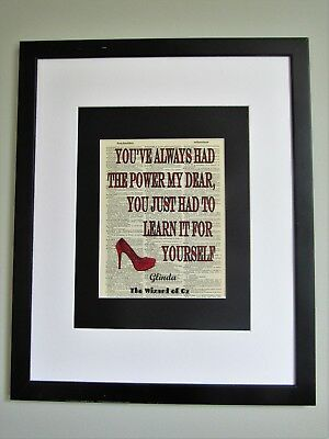 You've Always Had The Power My Dear Wizard Of Oz Quote Vintage Dictionary Page