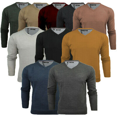Mens Quazar Crew Neck Knitted Jumper Sweater Top S to 5XL By Brave Soul