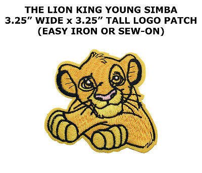 Disney Simba from Lion King Embroidered Iron On / Sew On Patch