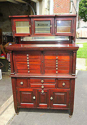 Antique Mahoghany Doctor's Medical Cabinet  Circ 1915  FANTASTIC!!!