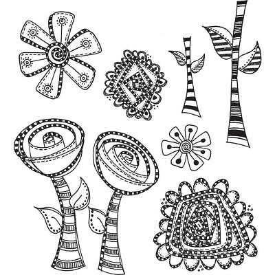 Dylusions Cling Rubber Stamps - Everythings Rosy - NEW!