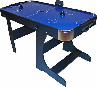 Air Hockey 5ft Folding Table with Electronic Scorer Gamesson Blue L Foot