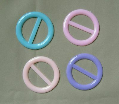 Tee shirt clip pull holder circle ring ONE pastel pink lavender blue peach NEW