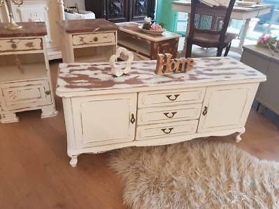 """Kommode """"Milka White"""" in Shabby Chic, Vintage, weiss, Brocante , France"""
