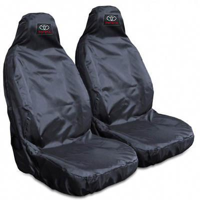 For Toyota Hilux Active 16-Heavy Duty Black Waterproof Car Seat Covers  2 Fronts