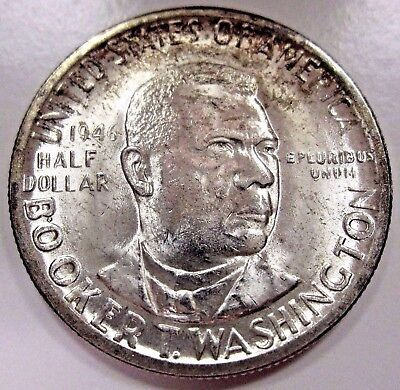 "1946-D Booker T. Washington BTW Commem Half Dollar,,90% Silver ""Choice BU"""