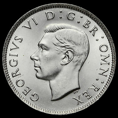 1942 George VI Silver Two Shilling Coin / Florin, BU