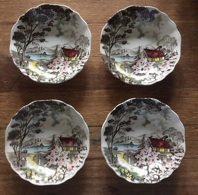 Set Of 4 Meakin Staffordshire Welcome Home Bowls NR