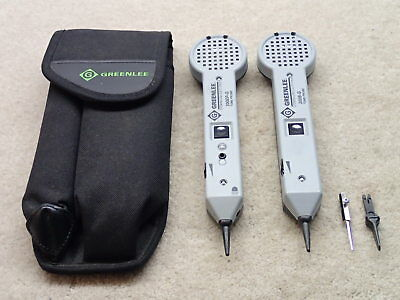 Greenlee Pair of Tone Probe Tracer Units 200EP-G & 200B-G with Case Nice