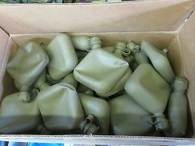 40 USGI 2 quart Canteens Unissued/Unused w/ gas mask drinking cap. Wholesale lot