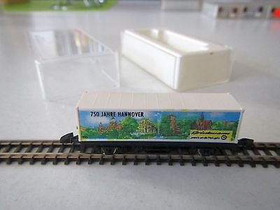 "Marklin mini-club Container Car ""750 Years Hannover"" Boxed 1:220 Z Scale"