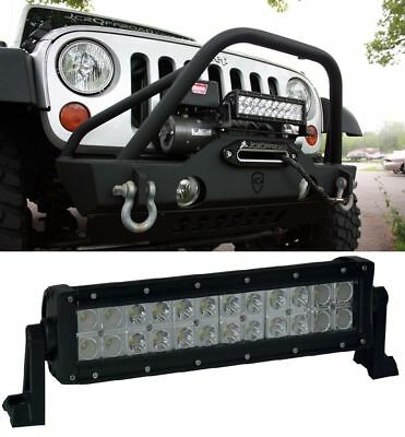 12 inch LED WORK LIGHT BAR SPOT FLOOD COMBO SUV UTE ATV OFFROAD JEEP TRUCK 10/14