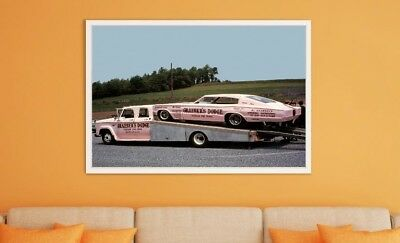 """Large Size 24""""x32"""" Tickle Me Pink 1967 Charger Funny Car Poster"""