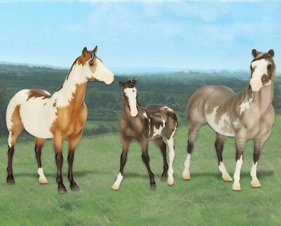 Breyer 2017 Vintage Club - Classic QH Horse Family -  Overo Paint - 4th Release