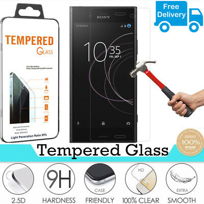 100% Genuine Tempered Glass Film Screen Protector For Sony Xperia XZ1 (2017)