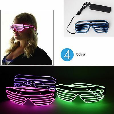 3 Modes Sound Control LED Green Light Glasses Control Eyewares for Party Concert