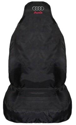 Audi A4 S Line Heavy Duty Black Waterproof Car Seat Cover - 1 x Front