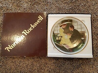 """Norman Rockwell Limited Edition """"The Secret"""" plate FREE SHIPPING"""