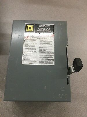 New No Box Square D 30 Amp Safety Disconnect Switch D321N Series E3