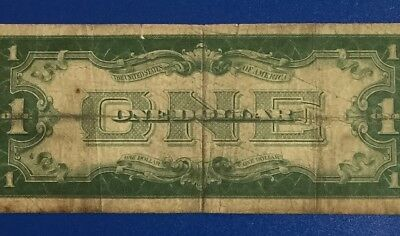"""1934 $1 Blue """"FUNNY BACK"""" SILVER Certificate X601 Old US Paper Money Currency"""