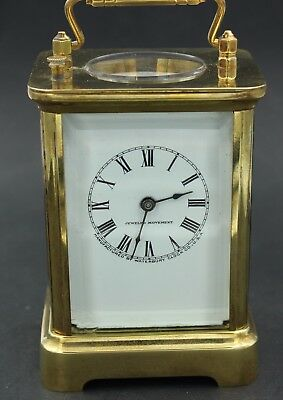 Waterbury  Repeater  Jeweled  Movement  Time  And  Strike  Carriage  Clock